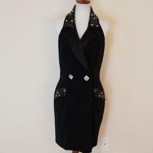 NiteLine black halter dress size 10